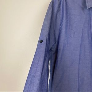 The Shirt by Rochelle Behrens Tops - The Shirt Rochelle Behrens Chambray Blouse Blue S